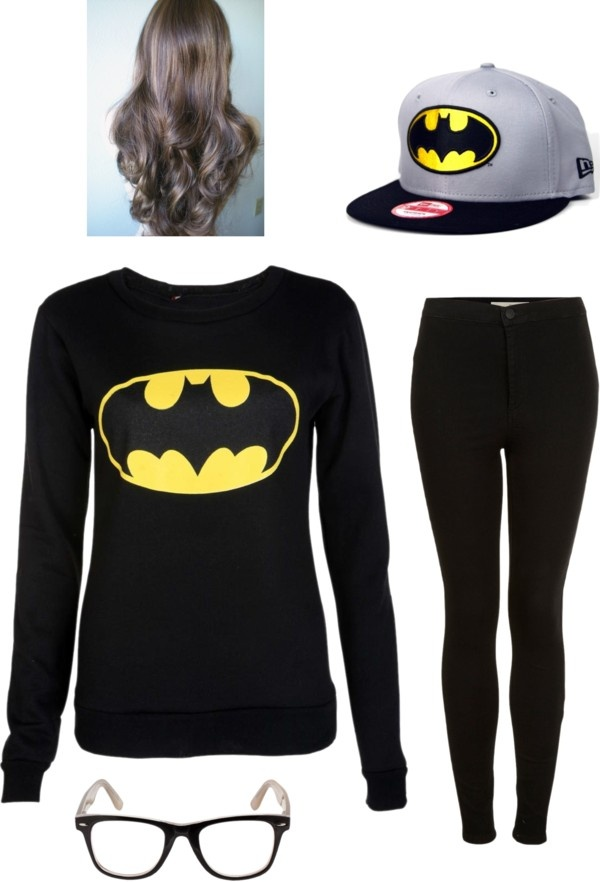 """batman outfit #2"" by leannw2000 on Polyvore"