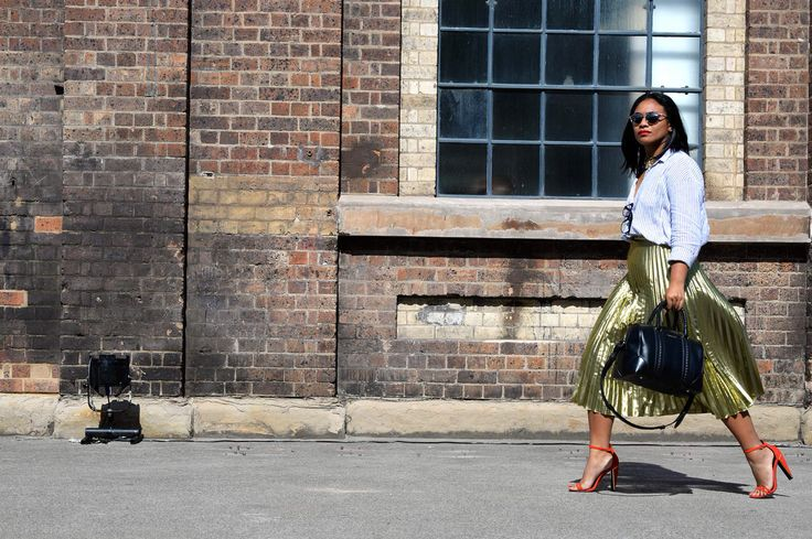 Mercedes Benz Fashion Week Australia 2015. Wearing Gorman skirt, Glassons top, ASOS shoes and Givenchy bag.