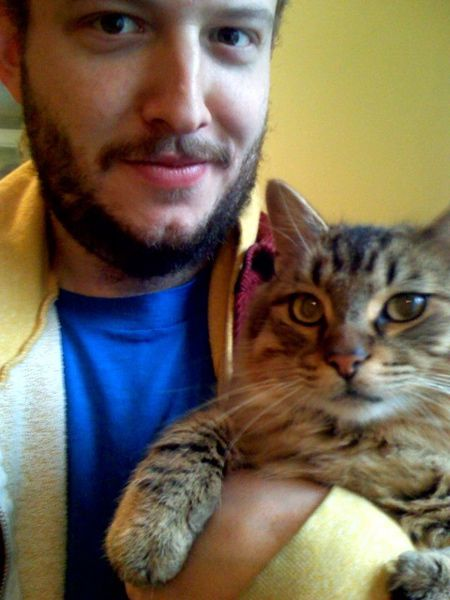 Justin Vernon (Bon Iver). This man's voice does amazing things to my brainwaves. And cat!