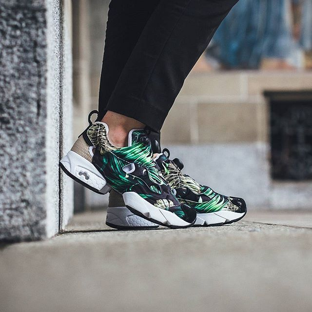 new product 8c4ea 77385 ... chaussures 1871b 58b62  get pump up the summer jams. the  junglegurlbrand x reebok instapump fury is out now