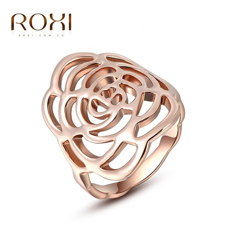 ROXI Brand Rose Accessories Rings For Women Gold Plated Fashion Rings Vintage Body Jewelry Anillos Wedding Christmas Gift