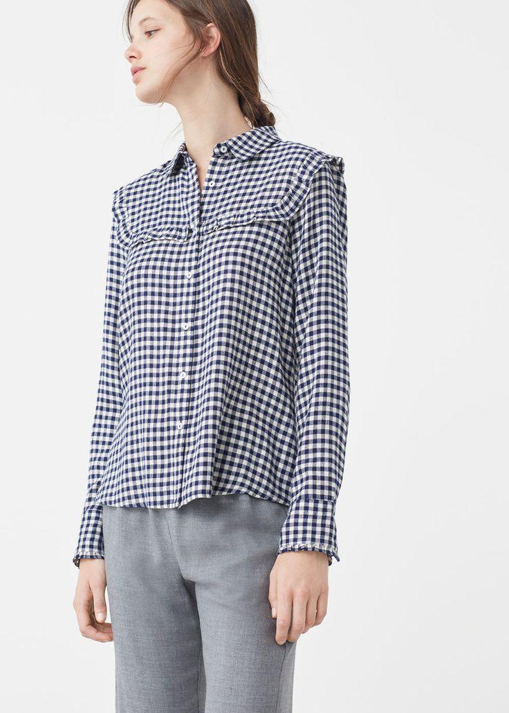 Check blouse - Shirts for Women   MANGO USA