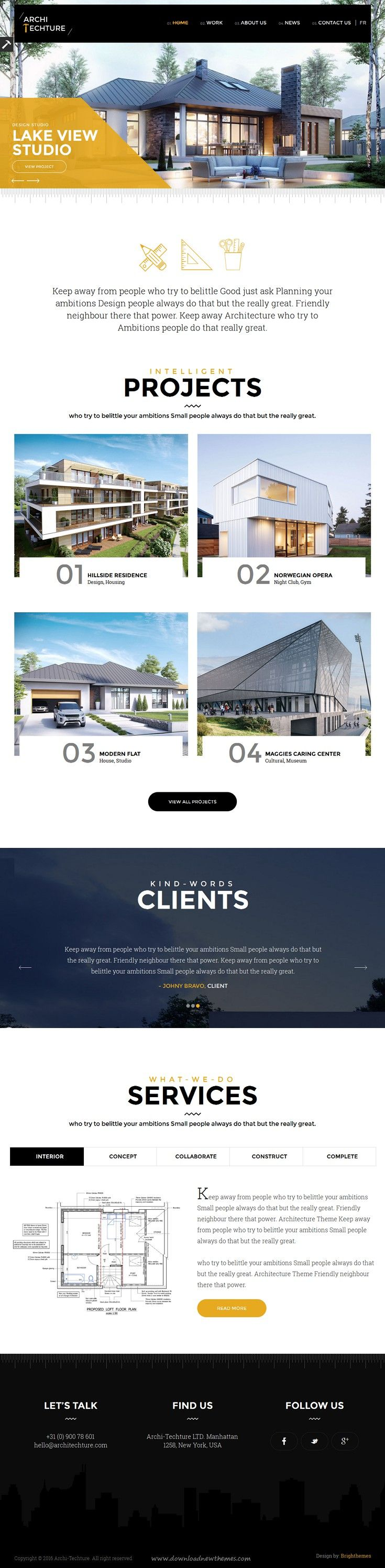 #Architecture Creative clean and modern design responsive WordPress Theme is ideal for architects, designers, #photographers, and those who need an easy, attractive and effective way to share their work with clients #website.