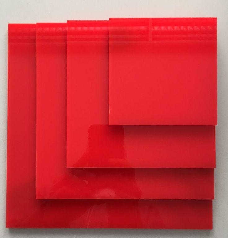 Acryl Acrylglas Plexi Zuschnitt Scheibe Platte Rot 5mm alle Größen ab € 16,00/qm