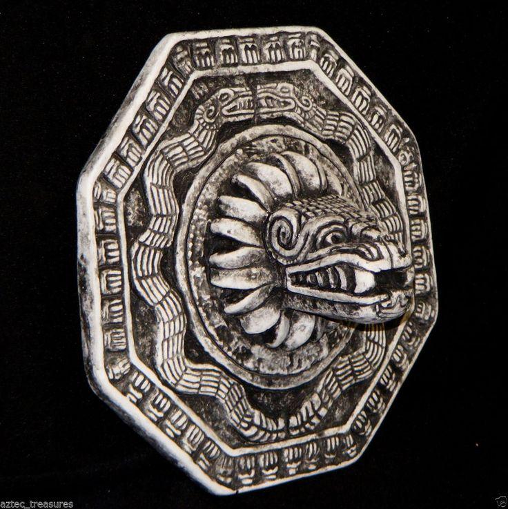 Aztec Quetzalcoatl Feathered Serpent Plaque Mayan Art Maya Sculpture Calendar