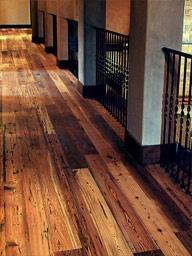 Reclaimed heart pine floor from hardwooddesigns.net