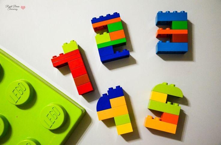 Цифры из конструктора - Занятия для раннего развития детей RightBrain.Training