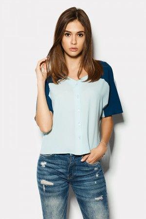 Блуза «Вермонт» блакитного кольору