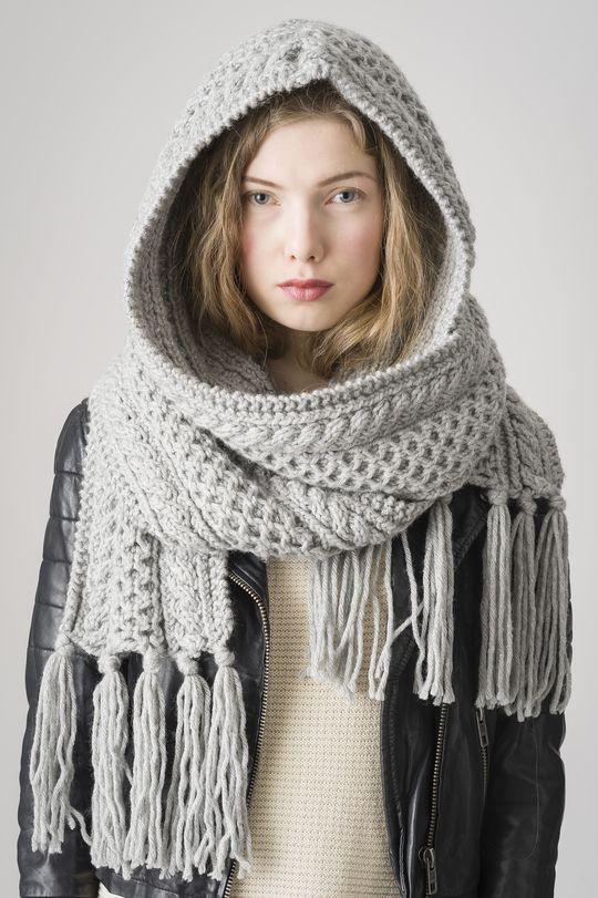 Sjal med huva Novita Hile   Novita knits