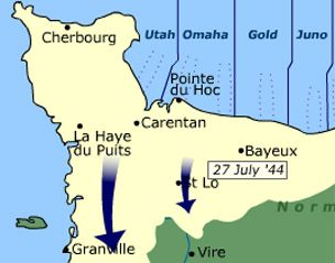 D-Day-animated Operation Overlord map