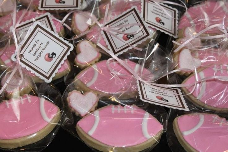 pink football party ideas   Pink Football Cookies – Stay-at-Home Baker