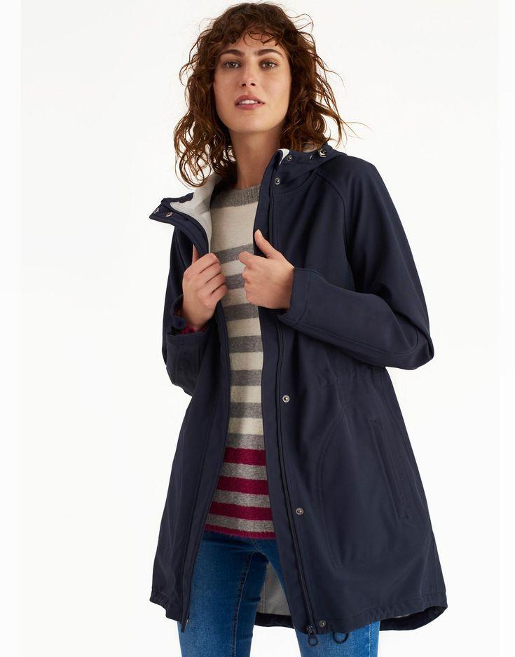 Westport Marine Navy Fleece Lined Waterproof Jacket | Joules UK