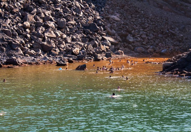 Take a day trip to the volcanic islets of Nea and Palea Kameni! #Santorini