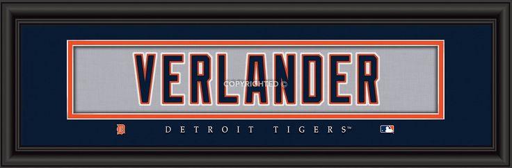 "Detroit Tigers Justin Verlander Print - Signature 8""x24"""
