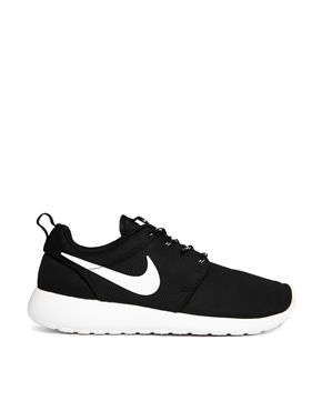 Image 1 ofNike Roshe Run Black Trainers