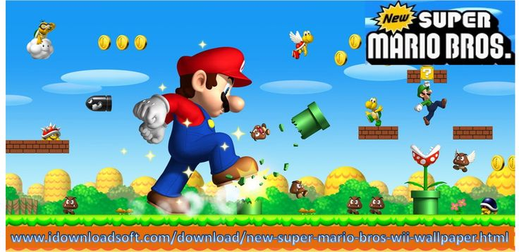 Mario onto your desktop! Yes, it's possible with wallpaper that has been created for the fans. Let the whole Mario bunch come at you to relive the memories!