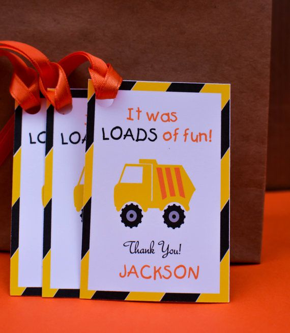 Caution: Awesome Birthday Party Zone Ahead!   Perfect addition to your construction party favors.   Check out our matching banner at 3trucksandatiara.etsy.com!