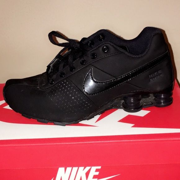 All black Nike SHOX DELIVER PNT GS S6.5 Y Very clean condition all black nike shocks size 6.5 Y WILL  fit women's size 8 . Very clean wore twice . I can take more pics . Nike Shoes Athletic Shoes