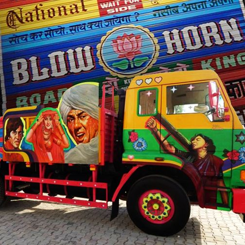 Have a look at this fabulous truck art, truly Bollywood style! #Heritage #Museum #Vintage #truck #art