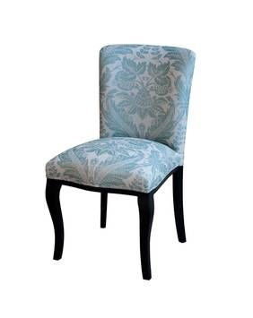Louis XV Perigord dining chair, painted with ice blue baroque upholstery - French provincial style in Sydney, Australia