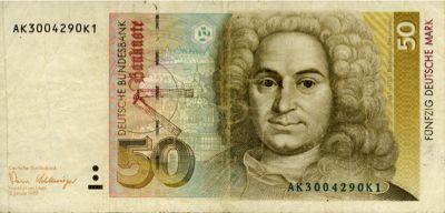 Johann Balthasar Neumann, 50 Deutsche Marks (1991 was a
