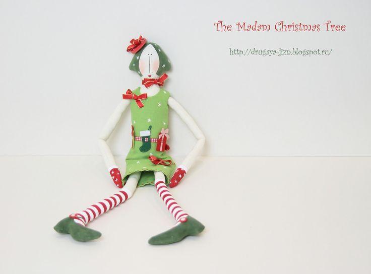 Медитация с иглой и пяльцами...: Мадам Ёлкина/The Madam Christmas Tree