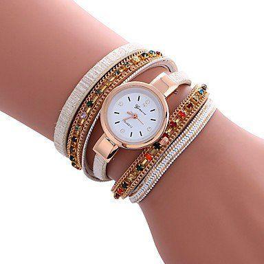 Trendy armbandhorloge goud-rosé goud wit veelkleuren