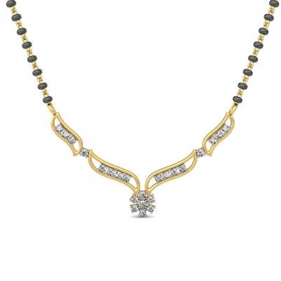 Varda Diamond Mangalsutra in a flora Shape for Rs. 30,892 which Gold Weight: 3.85GM, Diamond Weight:0.55CT. Cash On Delivery Available. It is Deliver within 8 to 12 Working Days. http://goo.gl/JVKpxF