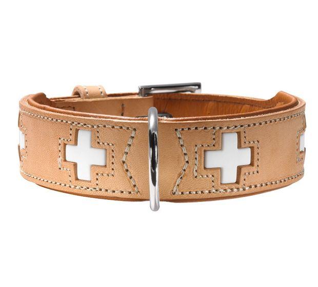 #Collare #beige per #cani | #HunterSwiss #Hunter #Swiss http://www.principini.it/prodotti/cani/collari-e-guinzagli-per-cani/collare-rosso-di-pelle