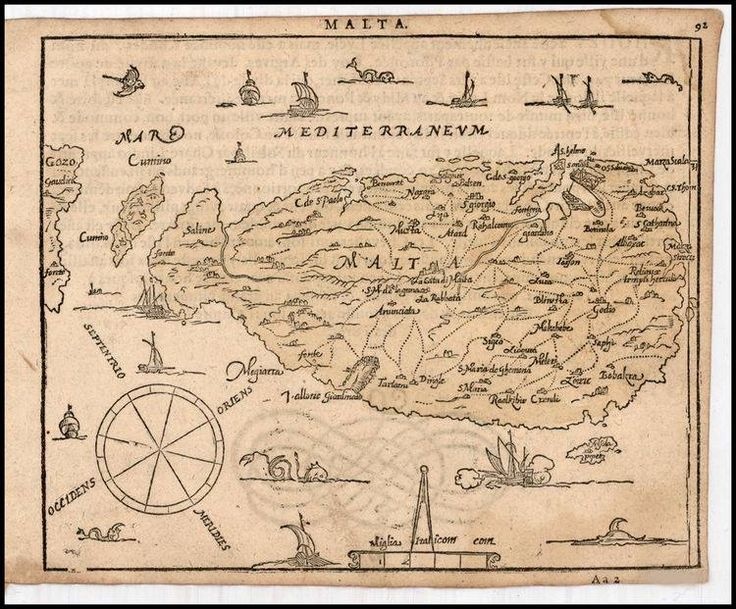 """July 13, #MaltaMapMonday brings us a rare small sixteenth-century map. The map was published by Zacharias Heyns in his """"Le Miroir du Monde, ou, Epitome du Theatre d'Abraham Ortelius,"""" (Amsterdam, 1598)."""