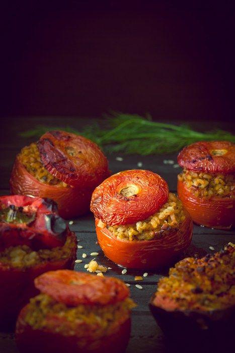 Greek Style Stuffed Vegetables - Gemista-13