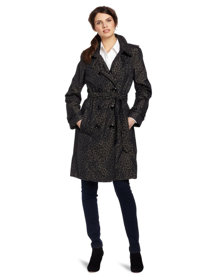 Perfect Womens Trench Coat : Womens Animal Print Trench Coat