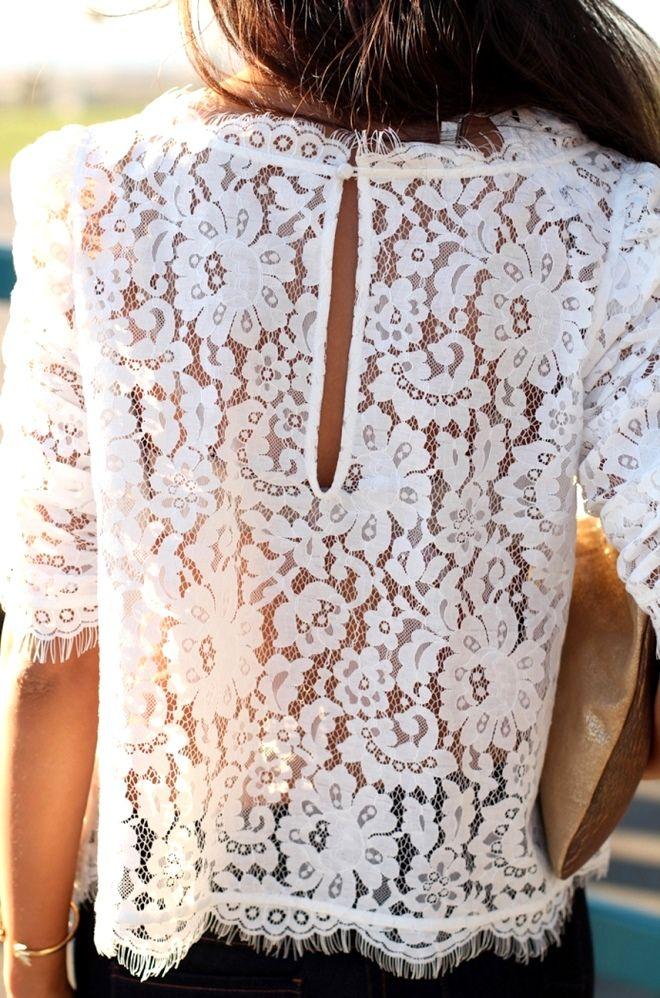 Кружевные блузки | С чем носить кружевные блузки