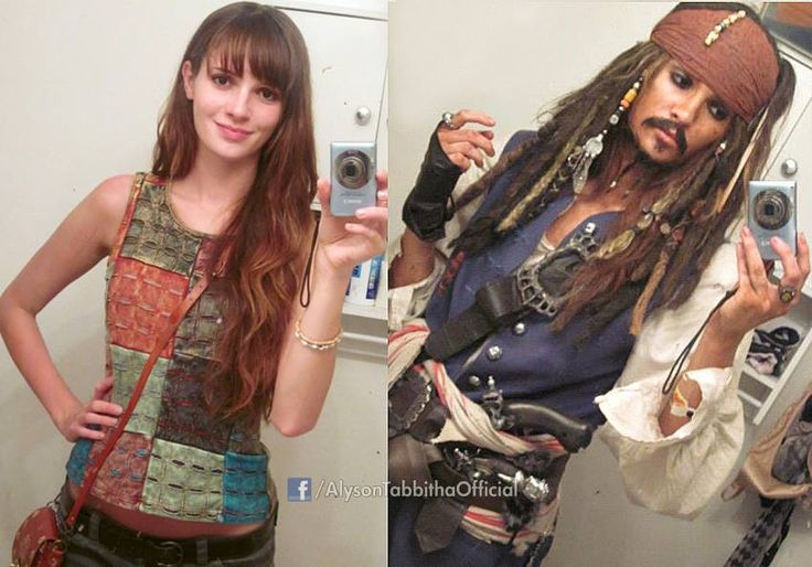 Now that is makeup! What a transformation! Jack Sparrow from Pirates of the Caribbean. - 11 Jack Sparrow Cosplays