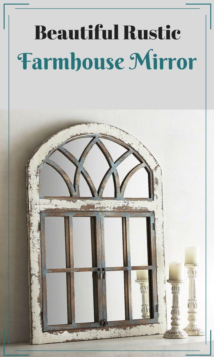Beautiful Vintage Style, Farmhouse Mirror #ad #farmhouse