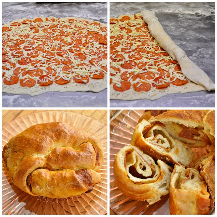 Pepperoni Pizza Bread Appetizer I Wishes and Dishes