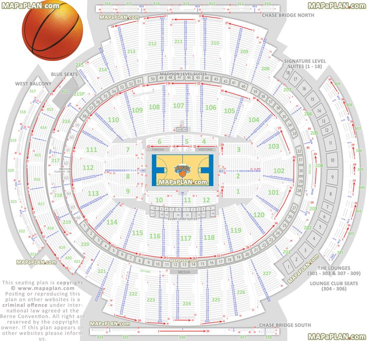 Madison Square Garden Seating Chart Detailed Seats Rows