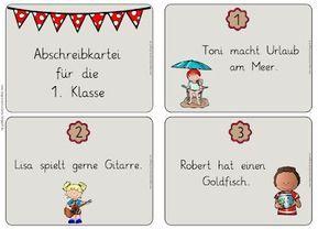 Primary school graduate: Abriebkartei for the 1st class