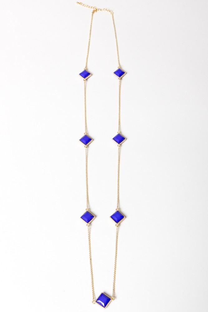 Cobalt Focal Necklace
