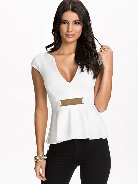 Gold Trim Peplum Top http://korturl.no/pm