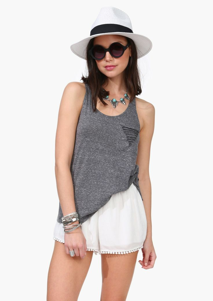 Rip Pockets Tank » Come on warm weather!