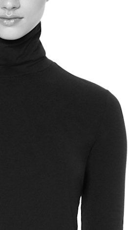 #Rollkragen + gut bei langem Hals + casual Look  + wärmt - nicht optimal bei kurzem Hals - nicht ideal bei runder Gesichtsform - nicht ideal bei starkem Busen