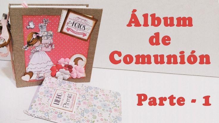 Álbum de Comunión (encuadernación de espina)