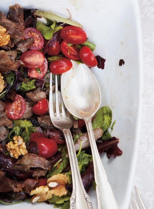 Salade de confit de canard Recettes   Ricardo