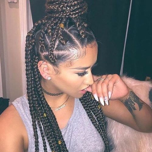 Geometric Roots box braids