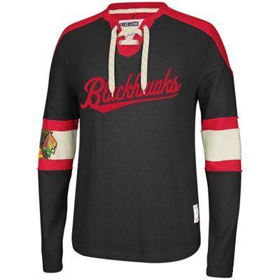 Reebok Chicago Blackhawks CCM Knit Sweatshirt - Black 6231330de4575
