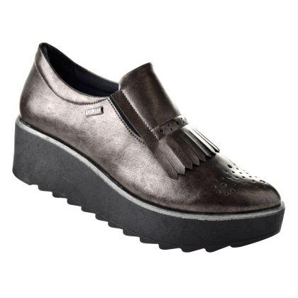 Sapato Mocassim Feminino Quiz 17-47-63202 - Cinza escuro