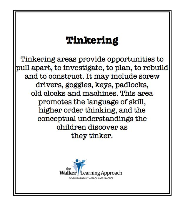Tinkering blurb - might help inspire a post on this in future.