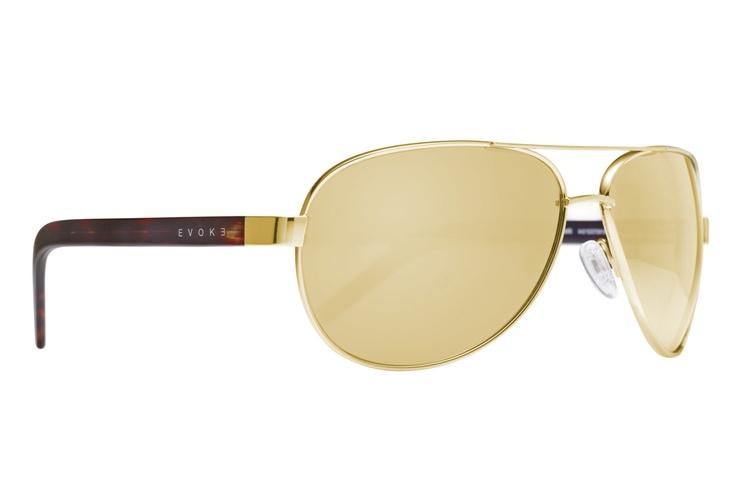Evoke Poncherello Gold Turtle Mirror. Estilo clássico aviador com lentes douradas levemente espelhadas. Feito à mão na Itália. / Evoke Poncherello Gold Turtle Mirror. Classic aviator style with gold slightly mirror lens. Handmade in Italy. http://ow.ly/aVOur