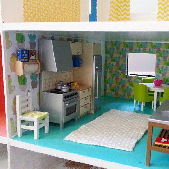#dollshousemakeover by @cupcakecutieone. #kitchen #lundby www.cupcakecutie1.blogspot.com